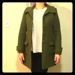 Fun green pea coat